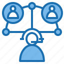 business, connection, data, digital, marketing, support, technology icon