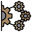 analysis, communication, connection, data, information, people, solution icon