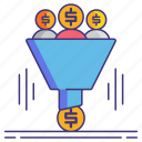 filter, funnel, sales icon