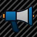 advertising, marketing, megaphone, promotion, sound, speaker