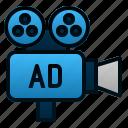 advertising, camera, film, marketing, media, promotion, video