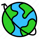 digital, earth, globe, map, marketing icon
