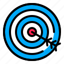 arrow, digital, goal, marketing, target icon