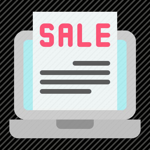 digital, laptop, marketing, online, sale icon