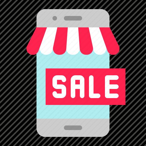 digital, marketing, mobile, online shopping, phone, shopping icon