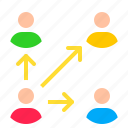 digital, link, marketing, network, share, user icon