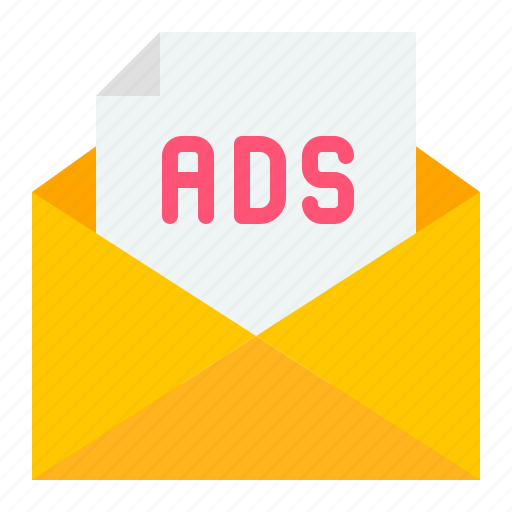 ad, ads, advertising, digital, mail, marketing icon