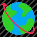 digital, earth, globe, map, marketing icon