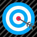 arrow, digital, goal, marketing, target icon