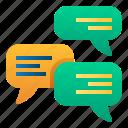 bubble, chat, communication, conversation, mail, message, promotion icon