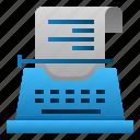 communication, copywriting, idea, machine, text, type, typing