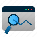 analysis, data, graph, internet, seo, statistic, web icon