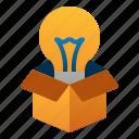 box, creation, creative, idea, innovation, lamp