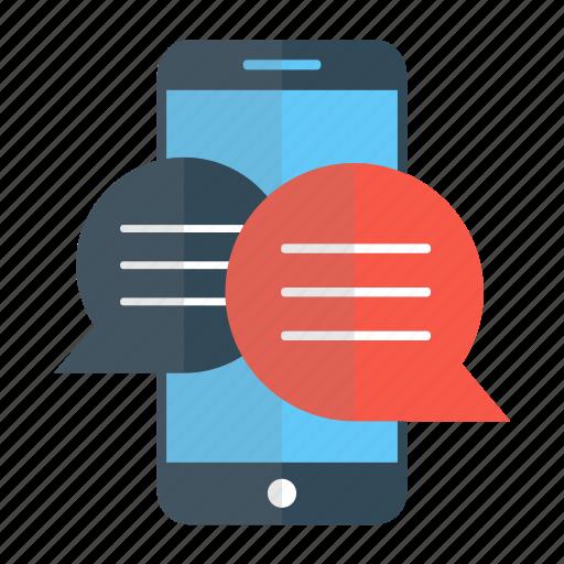 Cellphone, chat, convertation, digital, marketing, mobile ...