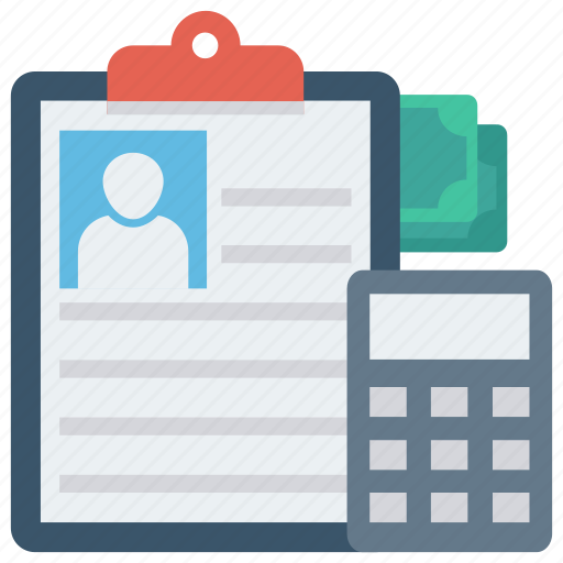 Accounting, calculation, calculator, clipboard, document icon - Download on Iconfinder
