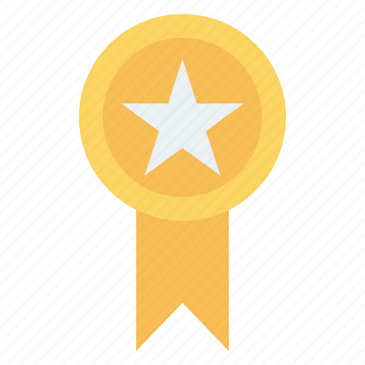 achievement, award, badge, medal, prize icon