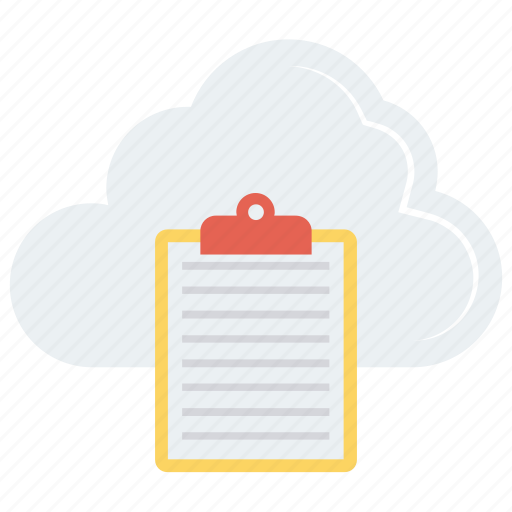 clipboard, cloud, document, paper, sheet icon