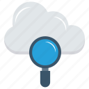 cloud, database, search, server, storage icon