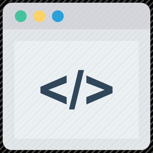 coding, html, programming, scripting, webpage icon