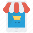 device, ecommerce, mobile, online, shopping icon