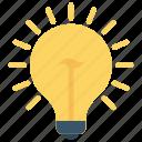 light, bright, creativity, idea, lamp icon