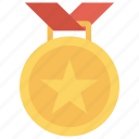 achievement, award, goal, medal, prize icon