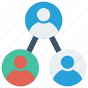 connect, employees, group, network, organization icon
