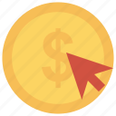 buy, click, dollar, payment, payperclick icon