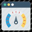 gauge, internet, meter, perforamnce, webpage icon