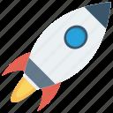launcher, roket, spaceship, speedup, startup