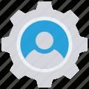 configure, employee, option, setting, user icon