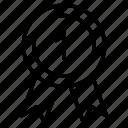 badge, reward, ribbon, rank