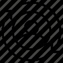 man, avatar, reload, circular, arrows