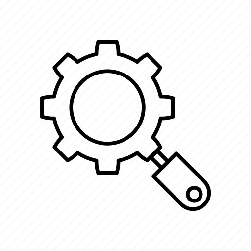 gear, maintenance, search, settings icon