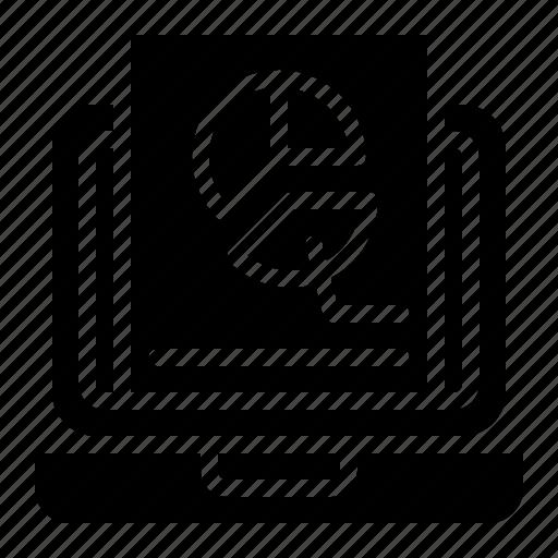 data, digital, increase, information, marketing, pie chart icon