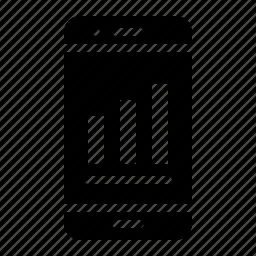 bar chart, data, digital, information, marketing, phone icon