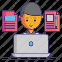 computer, copywriter, writer icon
