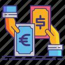 currency, exchange, money