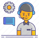 customer, agent, service icon