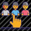 customer, service, types icon