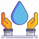 cleaning, hands, sanitation, water icon