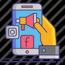 marketer, media, social icon