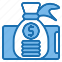 bag, business, customer, digital, money, payment, technology icon