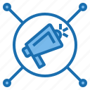 business, computer, connection, internet, network, production, technology icon
