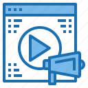 business, computer, connection, internet, network, technology, video icon
