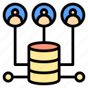 backup, business, connection, digital, receiver, server, system icon