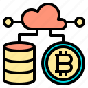 business, connection, cryptocurrency, digital, receiver, server, system icon