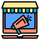 business, connection, digital, online, receiver, server, shopping icon