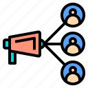 business, connection, digital, online, receiver, server, social icon