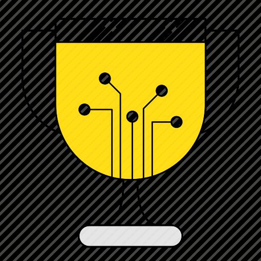 award, cup, digital, digital services, marketing, reward, seo icon